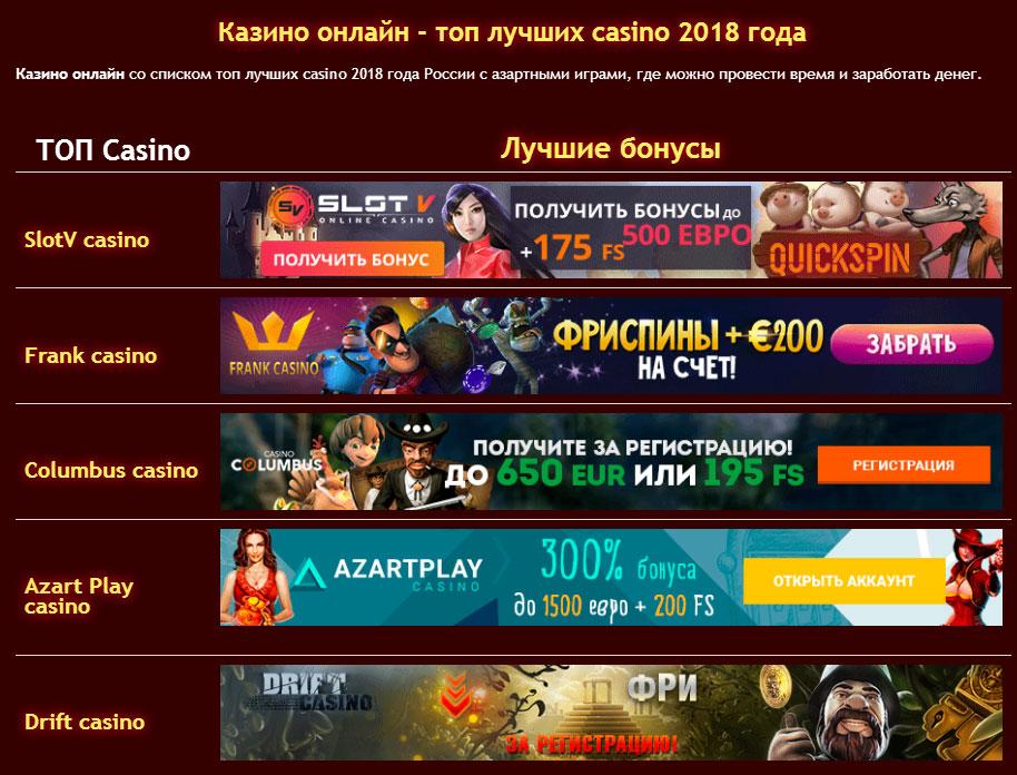 Бездепозитный бонус казино 2019 без депозита